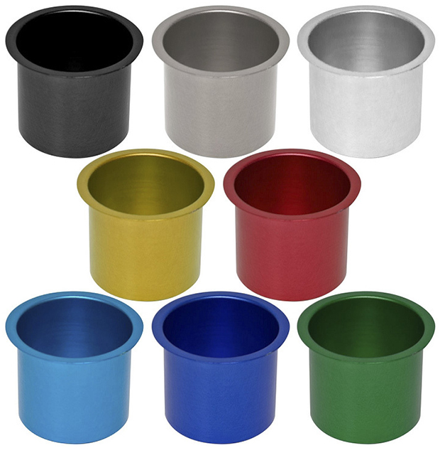 Casino Supply Colored Aluminum Jumbo Drop in Drink Holders: Black