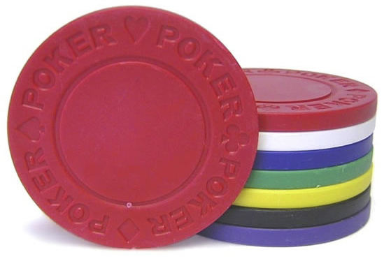 "Casino Supply 7.5 Gram ""Poker"" Poker Chips: Blue, 25 per Package"