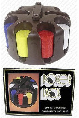 Casino Supply Plastic Carousel with 200 Plastic Poker Chips