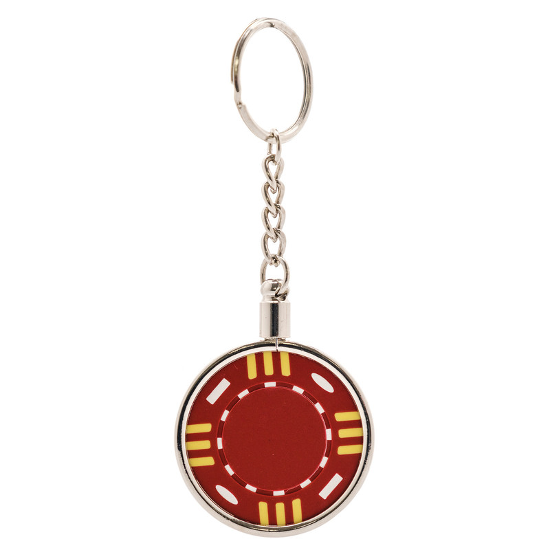 Casino Supply Chrome Plated Poker Chip Key Chain Holder