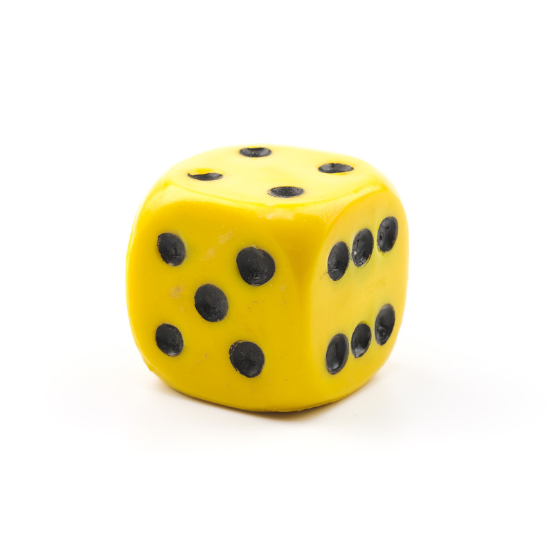 Casino Supply Jumbo Acrylic 1.5 Inch Solid Dice: Yellow