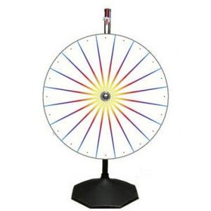 Casino Supply White Prize Wheel with Stand & Base: 36""