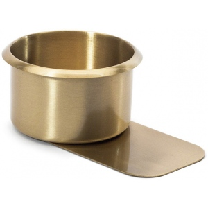 Casino Supply Brass Jumbo Slide Under Drink Holder