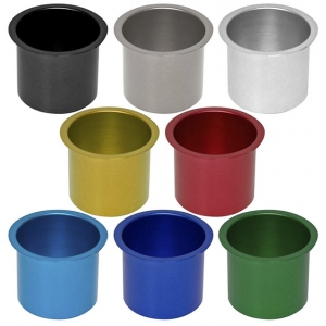 Casino Supply Colored Aluminum Jumbo Drop in Drink Holders: Gold