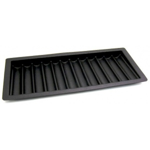 Casino Supply ABS Black Poker Chip Tray: 12 Row / 600 Chip