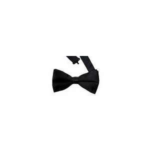 Casino Supply Satin Black Banded Bow Tie