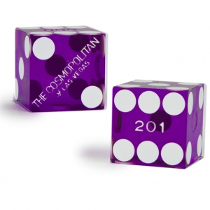 Pair (2) of Cosmopolitan 19 MM Official Casino Dice
