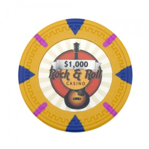 Poker Chips Roll of 25 - Rock & Roll 13.5 gram