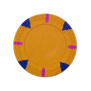 Yellow Blank Claysmith Triangle and Stick Poker Chip - 13.5g