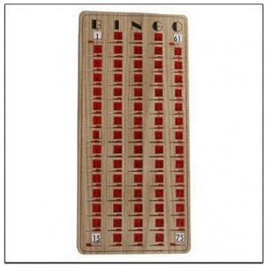 Casino Supply Master-Board Stitched Wood Grain Bingo Slide Card