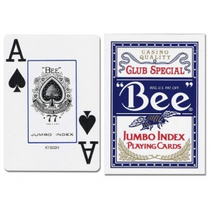 Casino Supply Bee 77 Jumbo Index Playing Cards: Blue, Casino Grade