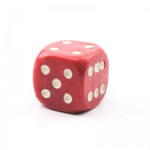 Casino Supply Jumbo Acrylic 1.5 Inch Solid Dice: Red