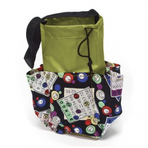 Casino Supply 6 Pocket Mini Bingo Card Designer Bag: Green