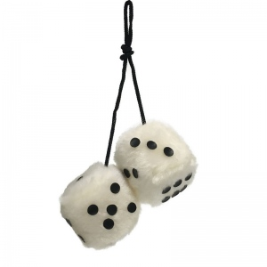 Casino Supply Fuzzy 2 Inch Car Dice: Priced per Pair