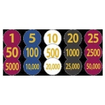 Casino Supply Numerical Lammers: Markers, 1.25 Inches, Style - 100