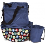Casino Supply 10 Pocket Bingo Ball Designer Bag with Coin Purse: Blue