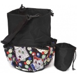 Casino Supply 10 Pocket Bingo Card Designer Bag with Coin Purse: Black