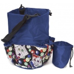 Casino Supply 10 Pocket Bingo Card Designer Bag with Coin Purse: Blue