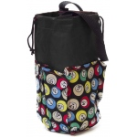 Casino Supply 6 Pocket Mini Bingo Ball Designer Bag: Black