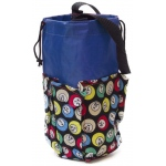 Casino Supply 6 Pocket Mini Bingo Ball Designer Bag: Blue