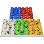 Casino Supply Bingo Balls: Colored & Coated, 2 Sided,  1.5 Inch (Not For Blowers)