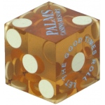 Casino Supply Casino Dice Used: Amber, 3/4 Inch