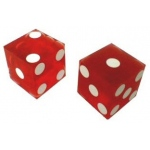 Casino Supply New Casino Dice: Matched Pairs, Sand Finish, Red, 3/4 Inch