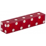 Casino Supply New Casino Dice: Sand Finish, Red, 3/4 Inch, Set of 5