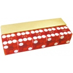 Casino Supply New Casino Dice: Red, Serialized, 3/4 Inch, Set of 5