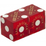 Casino Supply Used Casino Dice: Red, Matched Pairs, 3/4 Inch