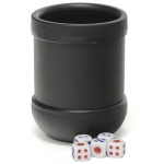 Casino Supply Dice Cup with Five Dice