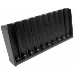 Casino Supply Vertical ABS Black Craps Chip Tray: 10 Row / 500 Chip