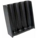 Casino Supply Vertical ABS Black Craps Chip Tray: 4 Tube / 200 Chip