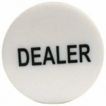 Casino Supply 2 Inch Dealer Puck Engraved: Casino Quality