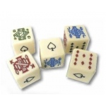 Casino Supply Poker Dice: 5/8 Inch, Package of 5