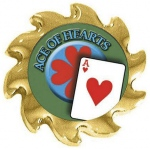 Casino Supply Ace of Hearts Poker Card Guard Spinner