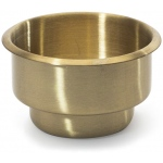 Casino Supply Drop in Drink Holder: Brass Dual Size