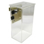 Casino Supply Acrylic Toke (Tip) Box with Locking Lid & Metal J Hook