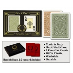 Casino Supply Da Vinci Casino Club Playing Cards: Brown/Green, Narrow Jumbo Index
