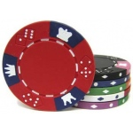 Casino Supply 14 Gram Crown and Dice Poker Chips: Grey, 25 per Package