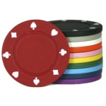 Casino Supply 4 Gram Suited Poker Chips: Blue, 25 per Package