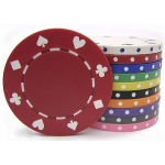 Casino Supply 8 Gram Suited Poker Chips: White, 25 per Package