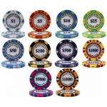 Casino Supply Monte Carlo 14g 3 Tone Holographic Poker Chips: Denomination - $5, 25 per Package