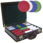Casino Supply Brown Faux Alligator Poker Case with 300 Poker Suited Poker Chips