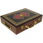 Casino Supply Hi-Gloss Wooden 300 Chip Poker Case: 2 Diamonds Design