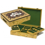 Casino Supply Hi-Gloss Wooden 300 Chip Poker Case: 4 Ace Design