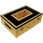 Casino Supply Hi-Gloss Wooden 500 Chip Poker Case: Rectangle Design
