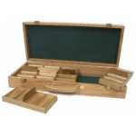 Casino Supply Oak 500 Chip Poker Case