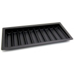 Casino Supply ABS Black Poker Chip Tray: 10 Row / 500 Chip