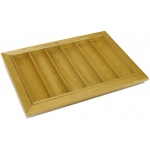 Casino Supply Wood Poker Chip Tray: 6 Row / 300 Chip